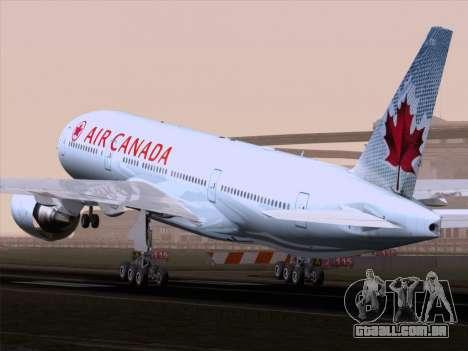 Boeing 777-200ER Air Canada para GTA San Andreas vista direita