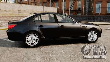 BMW M5 E60 Metropolitan Police Unmarked [ELS] para GTA 4 esquerda vista