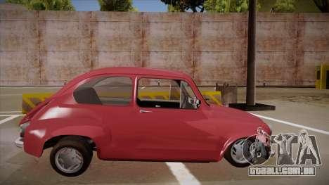 Zastava 750 para GTA San Andreas traseira esquerda vista