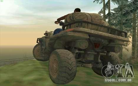 ATV da medalha de honra para GTA San Andreas vista traseira