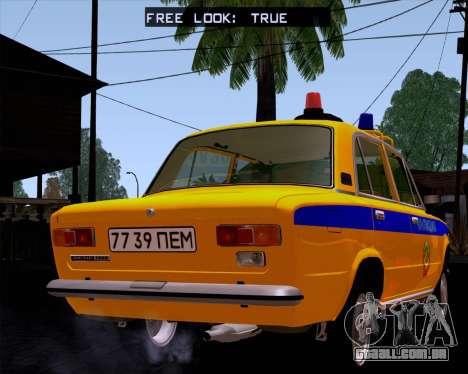 VAZ 21011 polícia para GTA San Andreas esquerda vista
