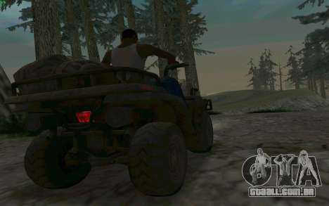 ATV da medalha de honra para GTA San Andreas vista interior