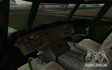 MH-47 para GTA San Andreas vista interior