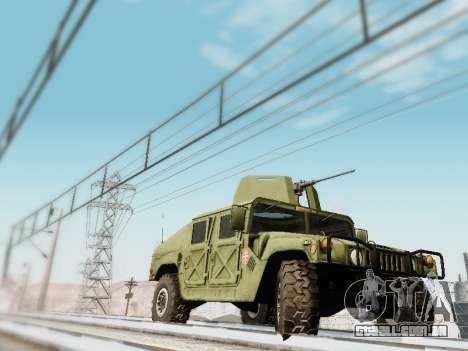 Humvee Serbian Army para GTA San Andreas traseira esquerda vista