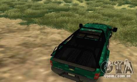 Chevrolet Silverado 3500 Military para GTA San Andreas vista direita