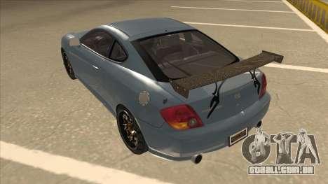 Hyundai Coupe V6 Soft Tuned v1 para GTA San Andreas vista traseira