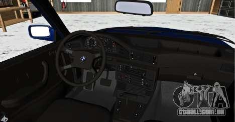 BMW 5-er E28 Hobo para GTA San Andreas traseira esquerda vista