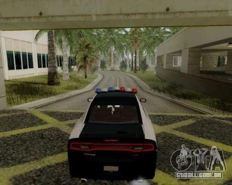 Dodge Charger 2012 Police IVF para GTA San Andreas traseira esquerda vista