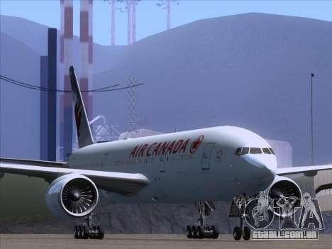 Boeing 777-200ER Air Canada para GTA San Andreas esquerda vista