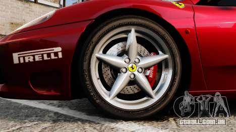 Ferrari 360 Spider 2000 [EPM] para GTA 4 vista de volta