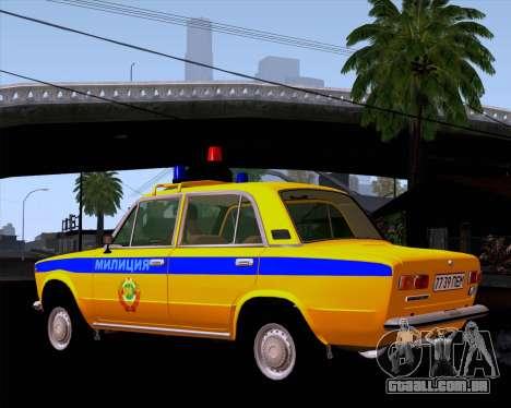 VAZ 21011 polícia para GTA San Andreas traseira esquerda vista