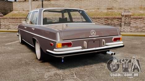 Mercedes-Benz 300 SEL 1971 para GTA 4 traseira esquerda vista