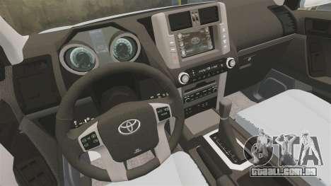 Toyota Land Cruiser Prado 150 para GTA 4 vista lateral