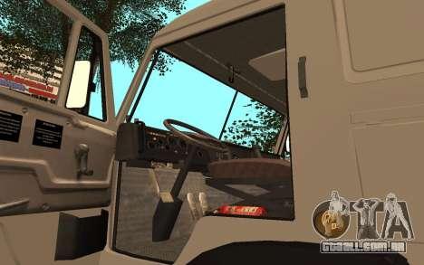 Camiões KAMAZ 53115 para GTA San Andreas vista traseira
