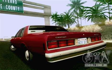 Chevrolet Caprice 1987 para GTA San Andreas traseira esquerda vista