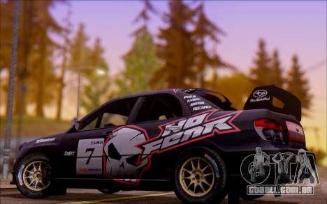 Subaru Impreza WRX STI WRC para GTA San Andreas vista superior