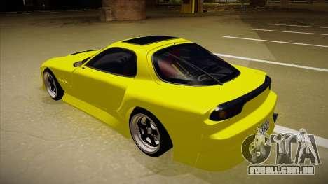 Mazda FD3S BN Sports para GTA San Andreas vista traseira