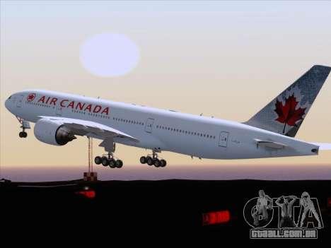 Boeing 777-200ER Air Canada para vista lateral GTA San Andreas