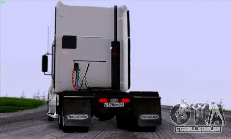 Freightliner Columbia para GTA San Andreas vista traseira
