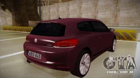 Volkswagen Scirocco para GTA San Andreas vista direita