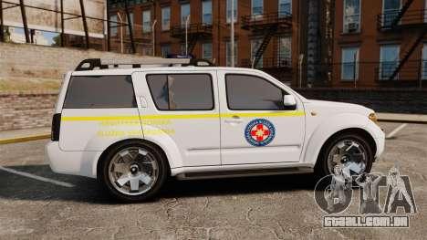 Nissan Pathfinder HGSS [ELS] para GTA 4 esquerda vista