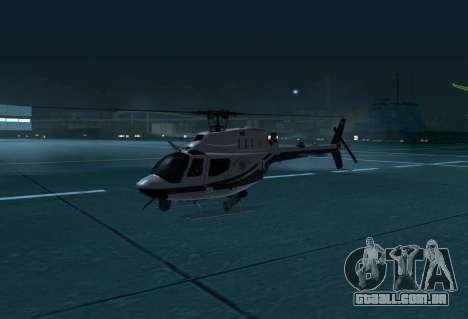 OH-58 Kiowa Police para GTA San Andreas esquerda vista