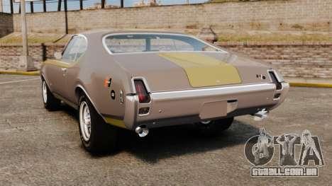 Oldsmobile Cutlass Hurst 442 1969 v1 para GTA 4 traseira esquerda vista