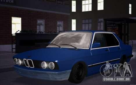 BMW 5-er E28 Hobo para GTA San Andreas