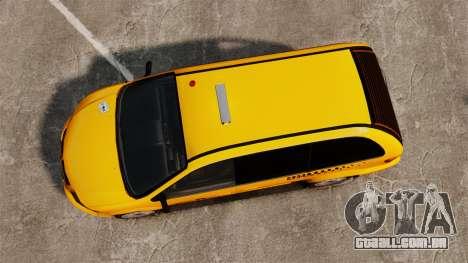 Dodge Grand Caravan 2005 Taxi NYC para GTA 4 vista direita
