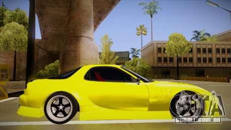 Mazda FD3S BN Sports para GTA San Andreas traseira esquerda vista