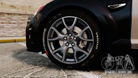 Mazda RX-8 R3 2011 Police para GTA 4 vista de volta