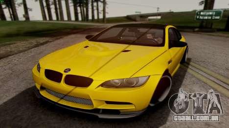 BMW M3 E92 Hamann para GTA San Andreas esquerda vista