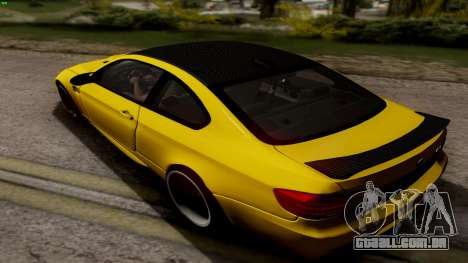 BMW M3 E92 Hamann para GTA San Andreas traseira esquerda vista