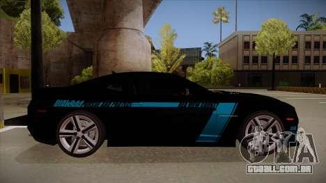 Chevrolet Camaro ZL1 2012 RCPD V1.0 para GTA San Andreas traseira esquerda vista