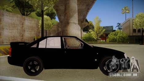 Lotus Carlton para GTA San Andreas traseira esquerda vista