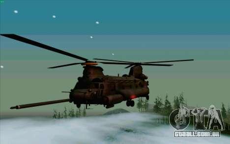 MH-47 para GTA San Andreas traseira esquerda vista
