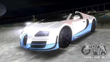 Bugatti Veyron Grand Sport Vitesse para GTA Vice City vista direita