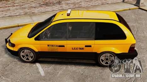 Taxista com novos discos para GTA 4 traseira esquerda vista
