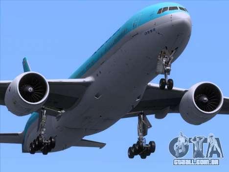 Boeing 777-2B5ER Korean Air para GTA San Andreas interior