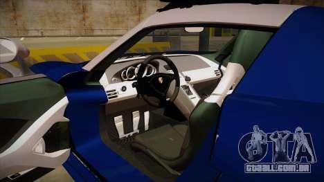 Porsche Carrera GT 2004 Police Blue para GTA San Andreas vista interior