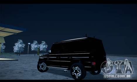 Mercedes-Benz G500 Gelandewagen para GTA San Andreas esquerda vista