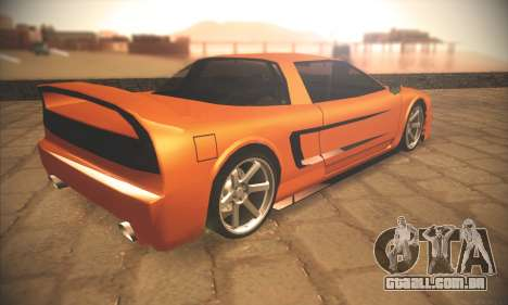 Infernus One para GTA San Andreas vista traseira