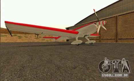 Stunt GTA V para GTA San Andreas traseira esquerda vista