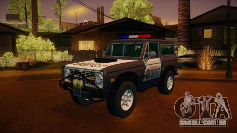 Ford Bronco 1966 Sheriff para GTA San Andreas