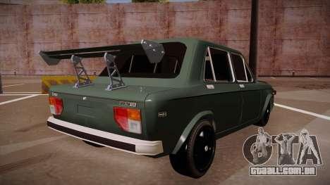 Zastava 128 Turbo para GTA San Andreas traseira esquerda vista