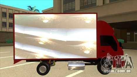 JAC 1040 para GTA San Andreas traseira esquerda vista