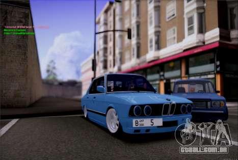 BMW 535I E28 para GTA San Andreas vista direita