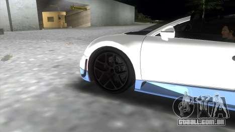 Bugatti Veyron Grand Sport Vitesse para GTA Vice City vista traseira esquerda