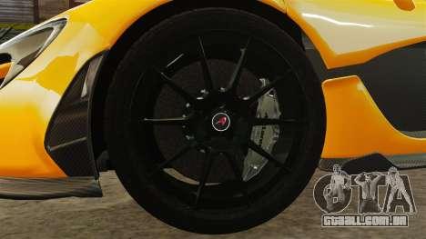 McLaren P1 2013 para GTA 4 vista de volta
