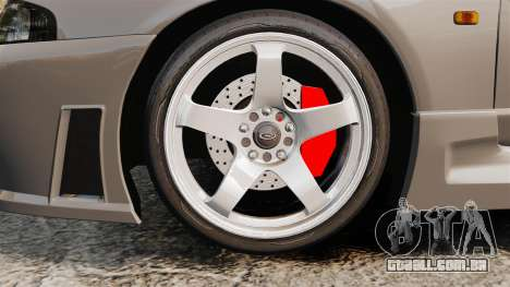 Nissan Skyline R33 NISMO 400R para GTA 4 vista de volta
